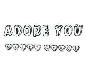 miley cyrus, adore you, and song image