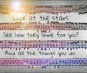 Lyrics, sheet music, and shine image
