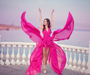 ballet, butterfly, and pink image