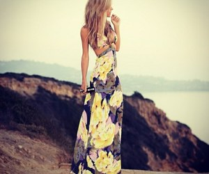 dress, fashion, and blonde image