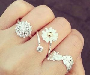 rings, flowers, and pretty image
