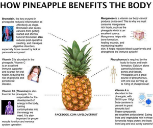 healthy and pineapple image