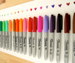 Sharpie, colors, and heart image