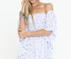 festival, floral, and mini dress image