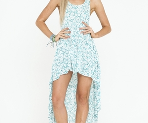 festival, floral, and maxi dress image