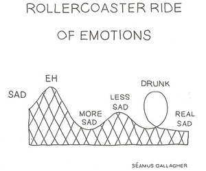 emotions, sad, and rollercoaster image