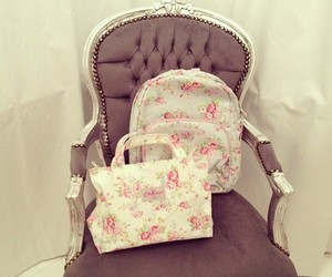 bag, flowers, and cute image