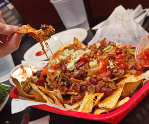 cheese, chips, and nachos image