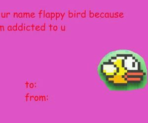 flappy bird, valentine, and funny image