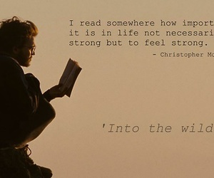 into the wild, quote, and text image