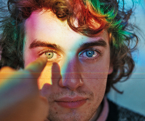 eyes, rainbow, and boy image