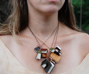 book, jewelry, and necklace image