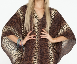 festival, leopard print, and model style image