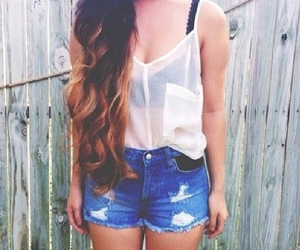 girl, casual, and clothes image