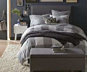 bedroom, classic headboard design, and bright bedroom theme image