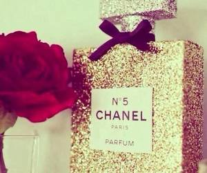 chanel, rose, and perfume image