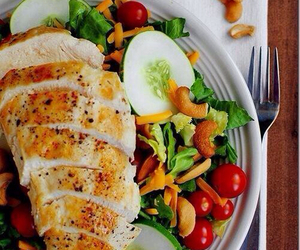 Chicken, fitness, and healthy image