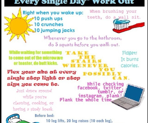 workout, healthy, and abs image