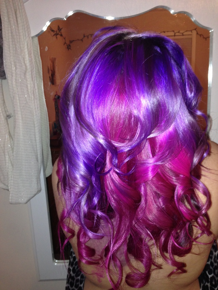 mermaid hair using ion color brilliance magenta and manic hair