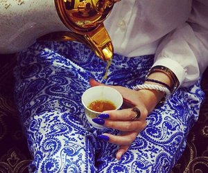 blue, tea, and coffee image