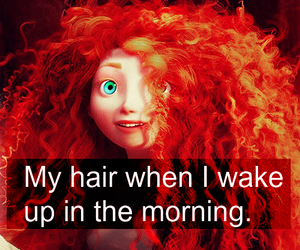 girl, hair, and morning image