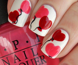 girly, valentine, and hearts image