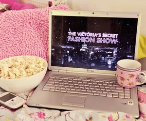 pink, Victoria's Secret, and popcorn image