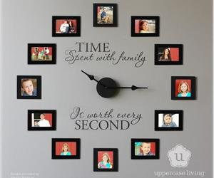 family, clock, and diy image