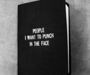 book, punch, and black image