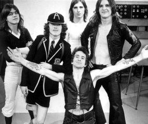 ac dc, bon scott, and angus young image