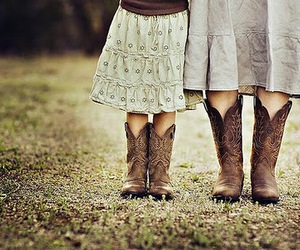 boots, skirt, and Cowgirl image