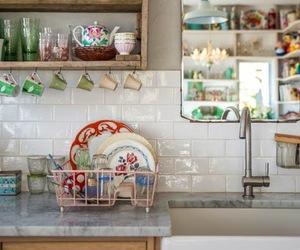 kitchen, interior, and vintage image