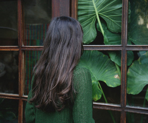 green, girl, and hair image