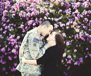 armed forces, bokeh, and in love image