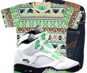 aztec, outfits, and jordans image
