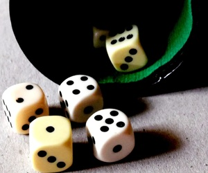 dice, picture, and shadow image