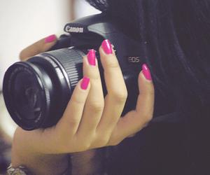 camera, girl, and nails image