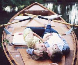 love, couple, and boat image