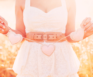 dress, heart, and hearts image