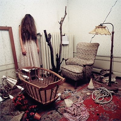 color photograph, creepy, and room image