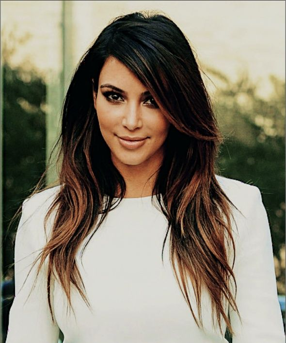 Kim Kardashian Ombre Hair Color Kim Kardashian And Style Icons