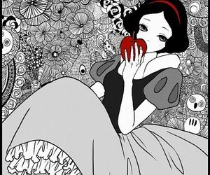snow white, disney, and apple image