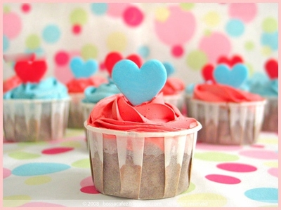 blue, cupcake, and dots image