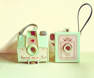 camera, mint, and pastel image