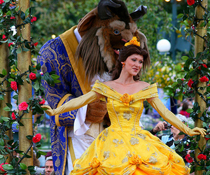 disneyland, paris, and the beauty and the beast image