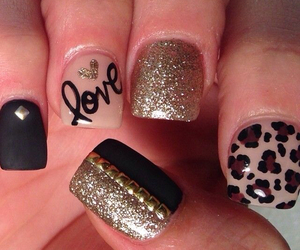 nails, love, and black image