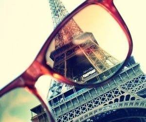 eiffel tower, vintage, and glasses image