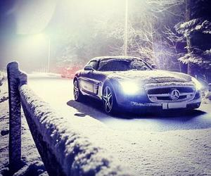 car, snow, and luxury image