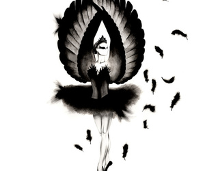 black swan, art, and ballet image