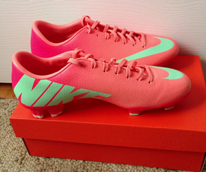 cleats, pink, and shoes image